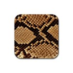 Snake Print Big	 Rubber Square Coaster (4 pack)