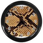 Snake Print Big	 Wall Clock (Black)