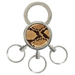 Snake Print Big	 3-Ring Key Chain