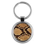 Snake Print Big	 Key Chain (Round)