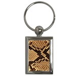 Snake Print Big	 Key Chain (Rectangle)