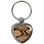 Snake Print Big	 Key Chain (Heart)