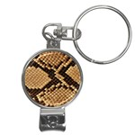 Snake Print Big	 Nail Clippers Key Chain