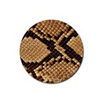 Snake Print Big	 Rubber Round Coaster (4 pack)