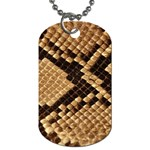 Snake Print Big	 Dog Tag (One Side)