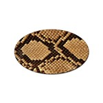 Snake Print Big	 Sticker Oval (10 pack)