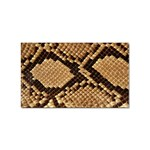 Snake Print Big	 Sticker Rectangular (10 pack)