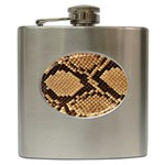 Snake Print Big	 Hip Flask (6 oz)