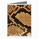 Snake Print Big	 Greeting Cards (Pkg of 8)