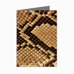 Snake Print Big	 Mini Greeting Card