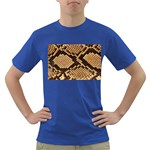 Snake Print Big	 Dark T-Shirt