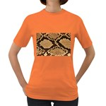 Snake Print Big	 Women s Dark T-Shirt