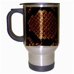 Snake Print Big	 Travel Mug (Silver Gray)
