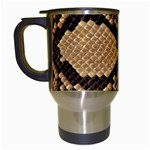 Snake Print Big	 Travel Mug (White)
