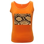 Snake Print Big	 Women s Dark Tank Top