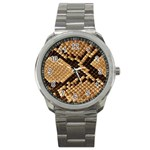 Snake Print Big	 Sport Metal Watch