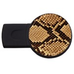 Snake Print Big	 USB Flash Drive Round (4 GB)