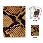 Snake Print Big	 Playing Cards Single Design