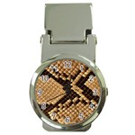 Snake Print Big	 Money Clip Watch
