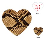 Snake Print Big	Playing Cards (Heart)