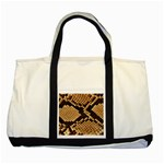 Snake Print Big	 Two Tone Tote Bag