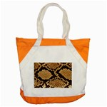 Snake Print Big	 Accent Tote Bag