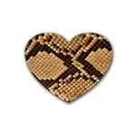 Snake Print Big	 Rubber Coaster (Heart)
