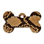 Snake Print Big	 Dog Tag Bone (Two Sides)