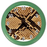 Snake Print Big	 Color Wall Clock