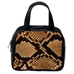 Snake Print Big	 Classic Handbag (One Side)