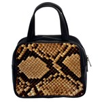 Snake Print Big	 Classic Handbag (Two Sides)