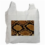 Snake Print Big	 Recycle Bag (Two Side)