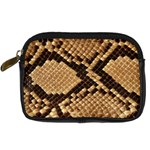 Snake Print Big	 Digital Camera Leather Case