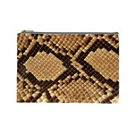 Snake Print Big	 Cosmetic Bag (Large)