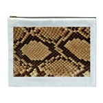 Snake Print Big	 Cosmetic Bag (XL)