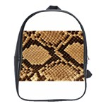 Snake Print Big	 School Bag (Large)