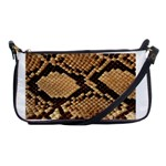 Snake Print Big	 Shoulder Clutch Bag