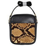 Snake Print Big	 Girls Sling Bag
