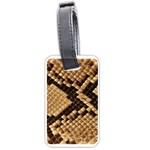 Snake Print Big	 Luggage Tag (two sides)