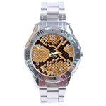 Snake Print Big	 Stainless Steel Analogue Men's Watch