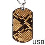 Snake Print Big	Dog Tag USB Flash (Two Sides)