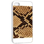 Snake Print Big	Apple iPhone 4/4s Seamless Case (White)