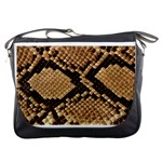 Snake Print Big	Messenger Bag