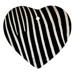 Zebra Print	 Ornament (Heart)