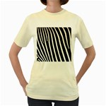 Zebra Print	 Women s Yellow T-Shirt