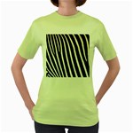 Zebra Print	 Women s Green T-Shirt