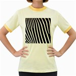Zebra Print	 Women s Fitted Ringer T-Shirt