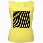 Zebra Print	 Women s Yellow Tank Top
