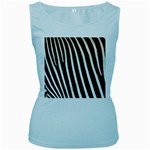 Zebra Print	 Women s Baby Blue Tank Top