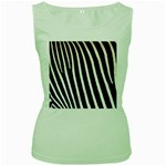 Zebra Print	 Women s Green Tank Top